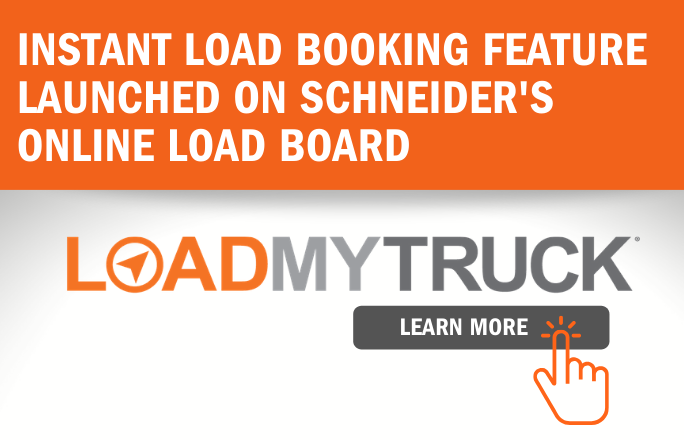 Schneider has launched an automated tool that enables third party carriers to instantly book loads at the click of a button. - Image: Schneider