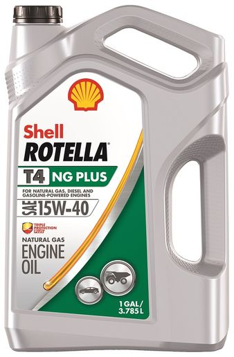 Shell Rotella T4 NG is a newly-blended oil optimized for natural gas engines that can also be used in diesel or or gasoline-powered trucks. -