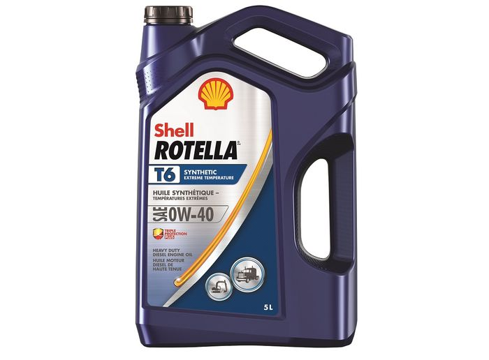 Shell Rotella T6 0W/40 is blended for fleets working in harsh winter environments. - Photos: Shell Rotella