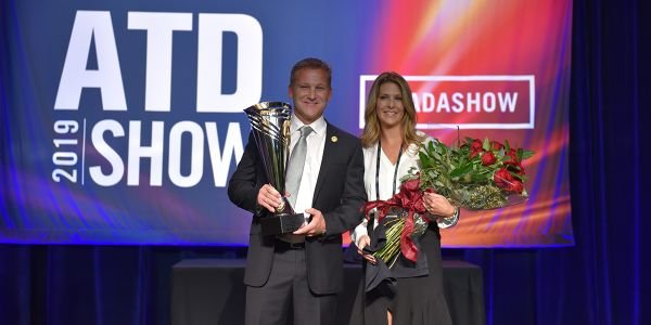 Trey Mytty, joined onstage by his wife Jennifer, was named the Truck Dealer of the Year at this...
