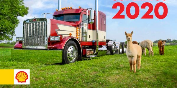 A 2006 Peterbilt 379 owned bySteve Schutjer from Woden, Iowa graces the cover of the 2020 Shell...
