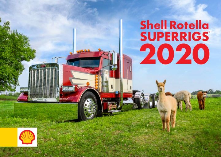 A 2006 Peterbilt 379 owned bySteve Schutjer from Woden, Iowa graces the cover of the 2020 Shell SuperRigs Calendar.  - Photo: Shell Rotella