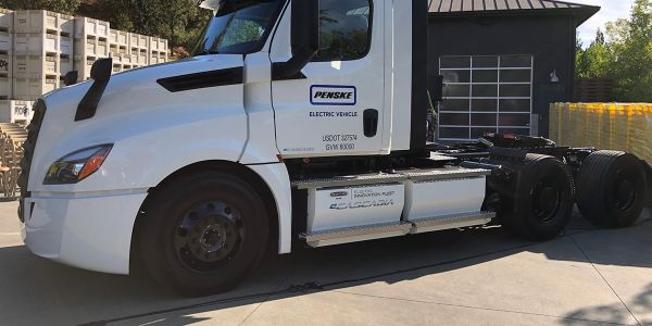 Penske Truck Leasing said it has logged 10,000 evaluation miles on the two Freightliner...
