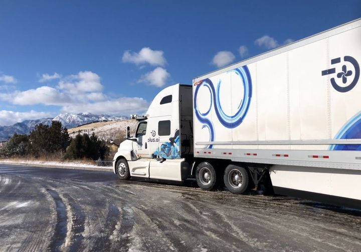 Plus.ai's autonomous truck was was greeted with rainy and snowy roads heading east. Plus.ai called the journey an important milestone in validating the system's ability to safely handle a wide range of weather and road conditions.