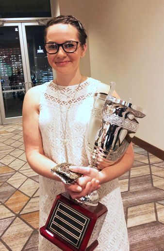 Rebecca Chewning is the first female grand champion of Rush Truck Centers' annual technician competition. - Photo: Steve Bouchard