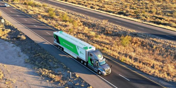 A new study conducted by TuSimple showed the autonomous trucks get better fuel economy when...