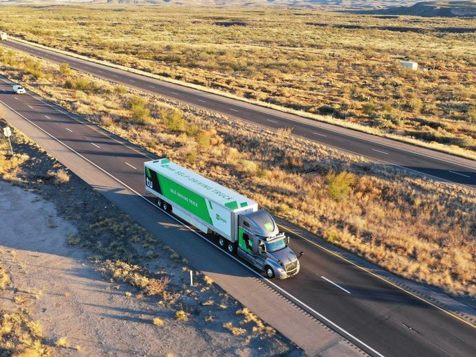 A new study conducted by TuSimple showed the autonomous trucks get better fuel economy when operating in self-driving mode.