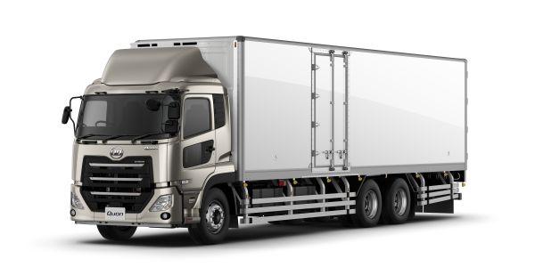 Japan-market UD Trucks Quon 8L CD Studio Refrigerator model.