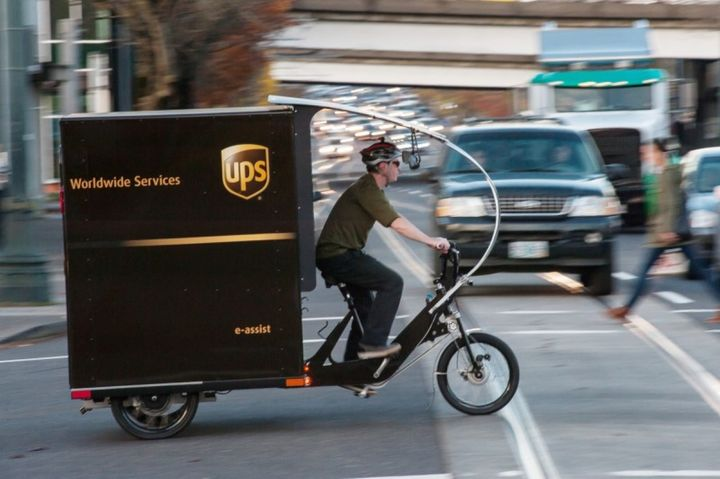 The Big Apple is working with a host of parcel-delivery fleets to evaluate the use of cargo bicycles to reduce congestion and diesel emissions in Manhattan. - Photo: UPS