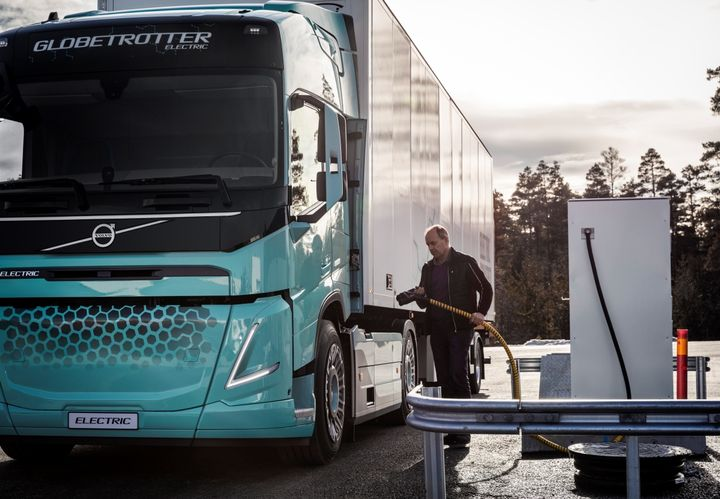 Volvo electric regional-concept truck about to get charged up in Europe. - Photo: Volvo Group