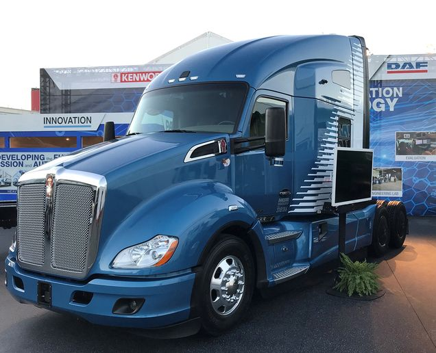 Kenworth also exhibited a Level 4 Autonomous Kenworth T680 at CES, a proof-of-concept truck was conceived and constructed at the PACCAR Innovation Center. - Photo: Kenworth