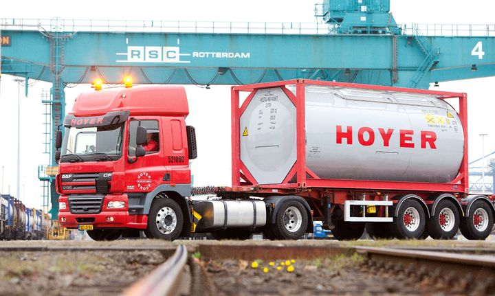 Hoyer is an international logistics company that specializes in moving liquids by road, rail and sea.