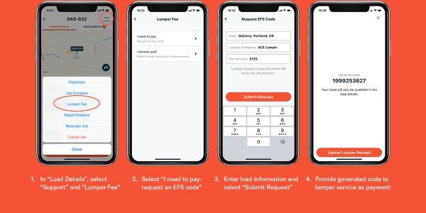 Convoy App Adds Lumper Payment Option
