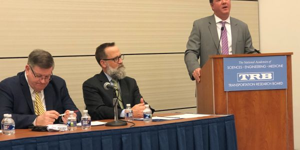 FMCSA Acting Administrator Jim Mullen (right) said the agency's top priority in 2020 will be...