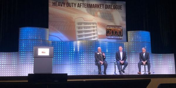 Rick Dauch, CEO of Delphi Technologies, and Jim Kamsickas, chairman, CEO and president of...
