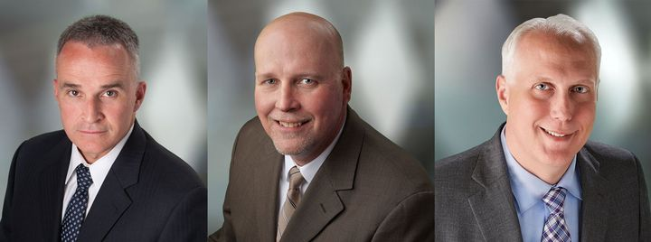 From left, Matt Joy, Richard Mudd, and Matt Van Meter are taking on new roles at Hendrickson.