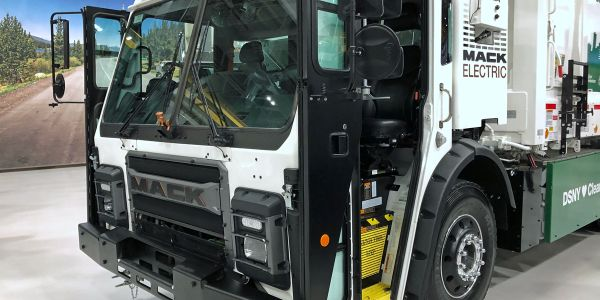 This electric Mack LR will be delivered to the New York City Department of Sanitation by the end...