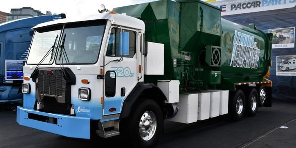 According to Peterbilt, the Model 520EV has a range of about 100 miles and a four-hour charge...