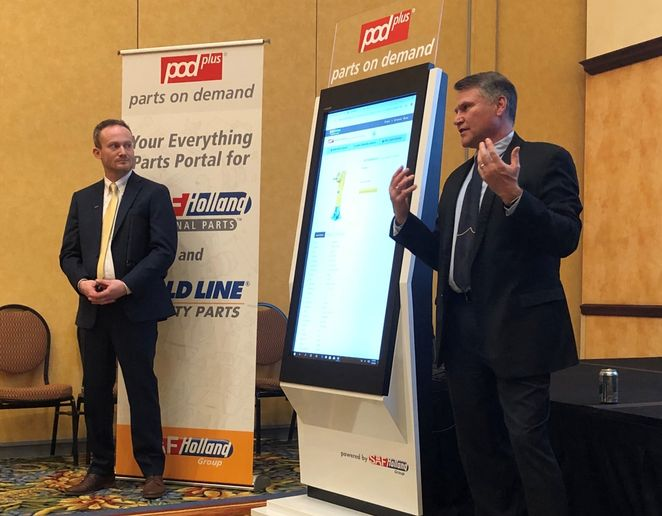 """We are on a digital transformation path,"" said SAF-Holland's Carl Mesker (right). - Photo: John G. Smith"