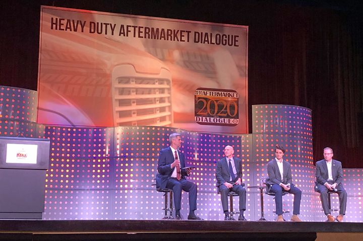 An HDAD panel on future technology focused largely on electric trucks.  - Photo: John G. Smith