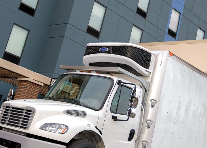 Carrier Transicold said its expanded line of Supra truck refrigeration units use 42% fewer unique components than earlier models. - Photo: Carrier Transicold