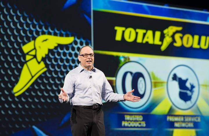 Dave Beasley, vice president of Goodyer's North American Commercial operations, said Goodyear expects ton-miles for heavy-duty and medium-duty fleets to continue growing, which is good for replacement tire sales.  - Photo: Jim Park
