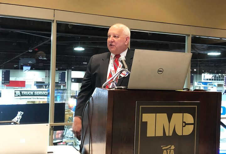 Jack Legler, technical director, TMC, outlines the current state of electromechanical braking system technology at the 2020 TMC Annual Meeting in Atlanta, Georgia.