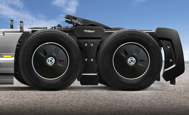 An installed FlowBelow AeroKit aerodynamic device for tractors. - Image: FlowBelow