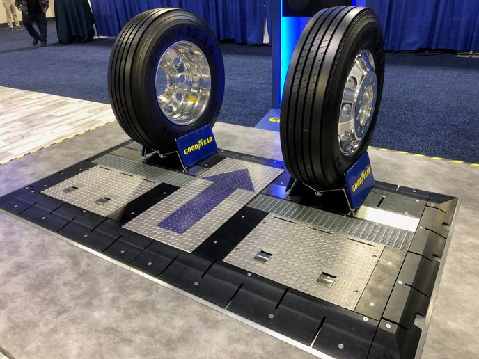 Goodyear said its new Complete Tire Management system enables fleets to focus on their fleet management and business operations while Goodyear monitors their tires and provides actionable information to activate tire service when needed. - Photo: Jim Park