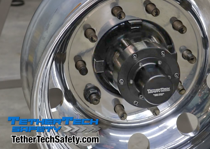TetherTech Safety uses a thick steel cable running through the axle tube that is tethered to a pair of wheel-end caps to prevent the wheel assembly from separating in the event of a bearing failure. - Photo: TetherTech Safety
