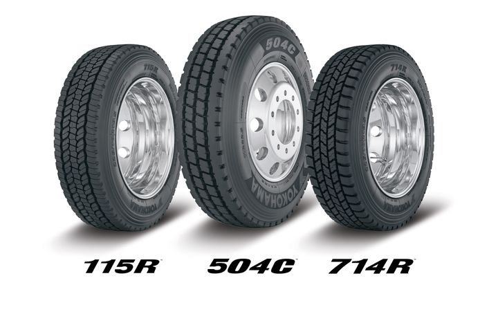 Yokohama will be displaying its all-position 504C and 115R tires, as well as its urban pick-up/delivery 714R tire at TMC in Atlanta, February 24 through 26. - Photo: Yokohama Tire