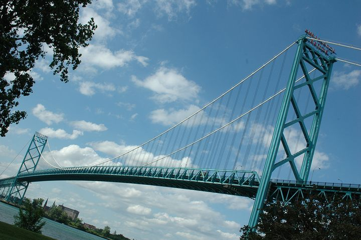 The Ambassador Bridge connects Detroit, Michigan, with Windsor, Ontario. - Photo: Jim Park