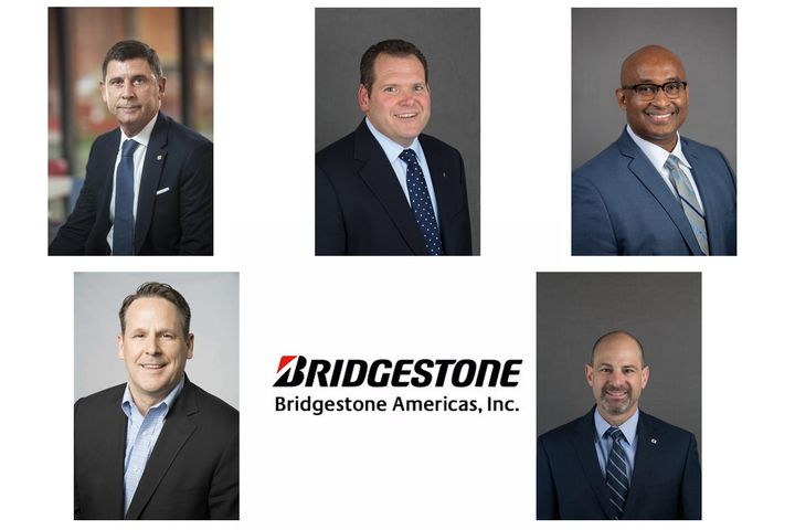 Riccardo Cichi, Chris Ripani, Eric Higgs, Brian Goldstine, and Craig Schneider will all take on new responsibilities at Bridgestone. - Photo: Bridgestone