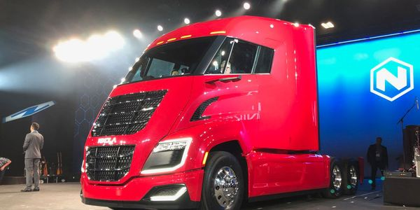 The Nikola 2 hydrogen-electric truck during last year's Nikola World event.