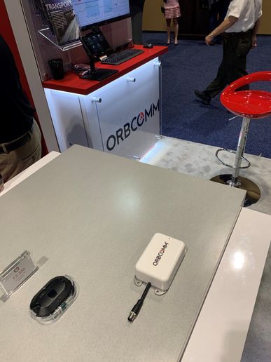 Orbcomm is showcasing the latest upgrades to its telematics solutions at the Truckload Carriers Association meeting in Orlando, Florida. - Photo: Susan Fall