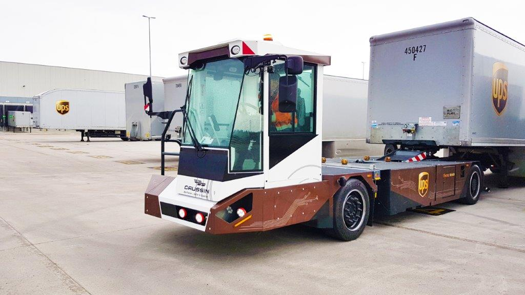UPS Testing Electric/Autonomous Yard Tractors in England