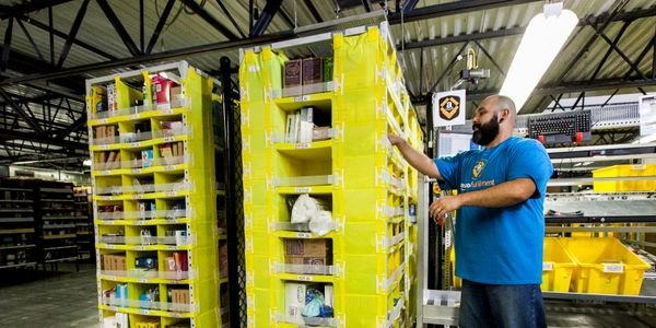 Amazon fulfillment centers have been hit by high demand for supplies related to the...