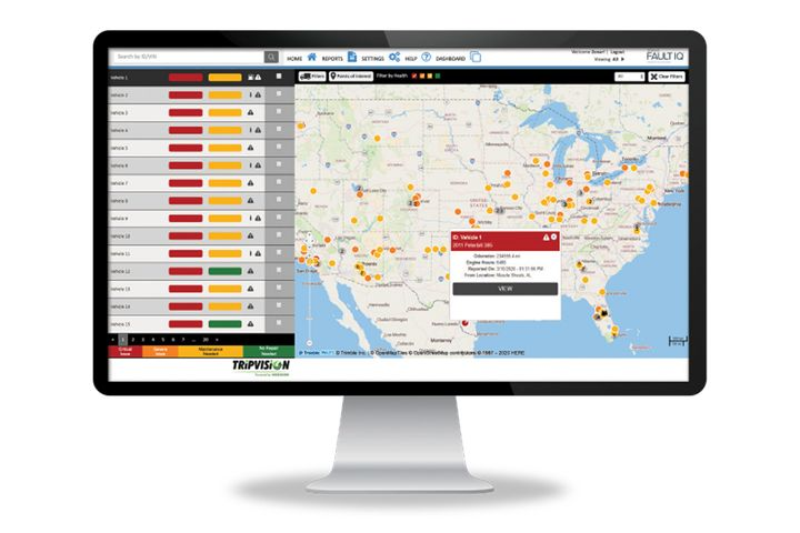 Zonar's FaultIQ provides real-time visibility to fault data from an entire vehicle with a recommended action plan regardless of the vehicle or asset manufacturer. - Photo: Zonar