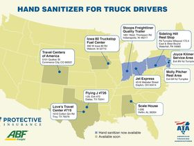 ATA, Protective Insurance Providing Free Hand Sanitizer to Drivers
