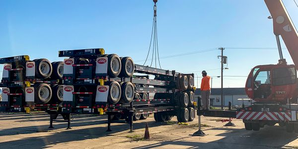 Dorsey Intermodal Supplies Chassis for FEMA