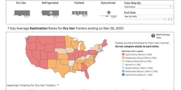Interactive FTR Heatmap Shows COVID-19 Impacts on Truck Rates by State