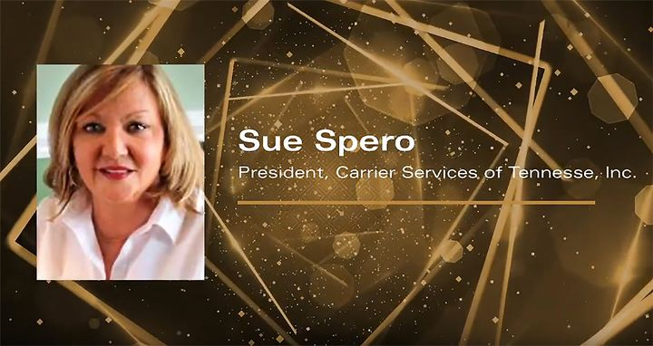 Sue Spero was honored with the sixth annual Distinguished Woman in Logistics Award via a virtual announcement. - Image: screenshot via Youtube