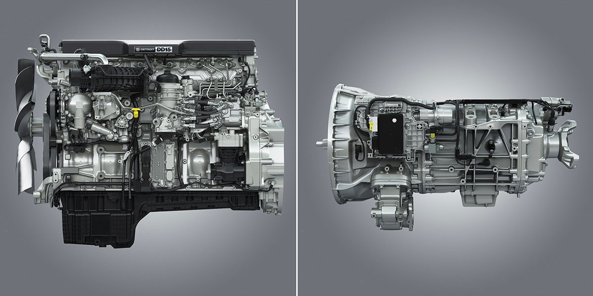 Detroit Expands DT12 Transmission Lineup, Re-engineers DD15 Engine for Better Fuel Economy