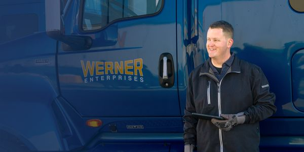 The Werner Edge tablets can be taken from the truck and used by drivers in truckstops or other...