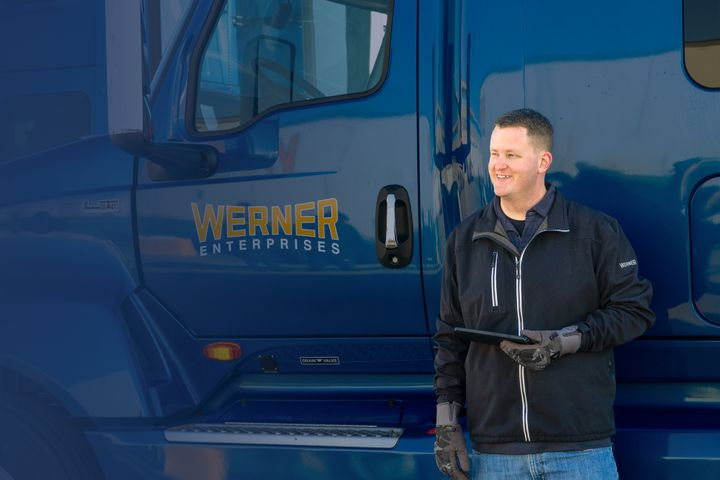 The Werner Edge tablets can be taken from the truck and used by drivers in truckstops or other areas.  - Photo: Werner