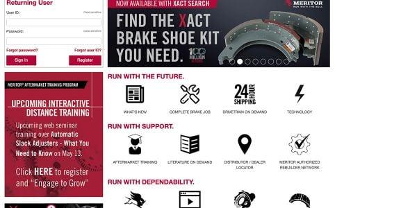 Meritor Upgrades Website, Enhances Brake Search