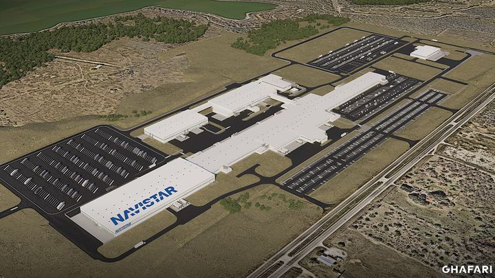The new Navistar plant in San Antonio will produce Class 6-8 trucks starting in 2022. - Image: Navistar