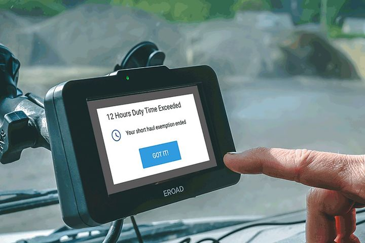 ERoad's Smart Short Haul notifies drivers when they have exceeded the limits. - Photo: ERoad