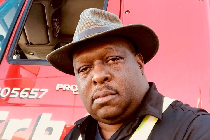 While driver Munroe Thompson has not experienced discrimination in the 26 years he has worked at Erb Transport, he has heard about problems at other trucking companies. - Photo: Munroe Thompson
