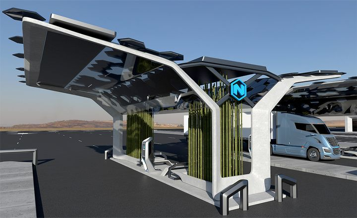 Nikola will be able to produce more than 40,000 kgs of hydrogen a day with the new infrastruture equipment from Nel, which was made possible in part by the company recently going public. - Photo: Nikola